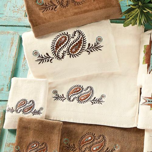 Spiced Paisley Cream Towel Set