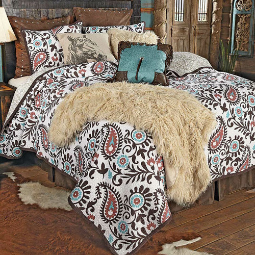 Spiced Paisley Quilt Set - King