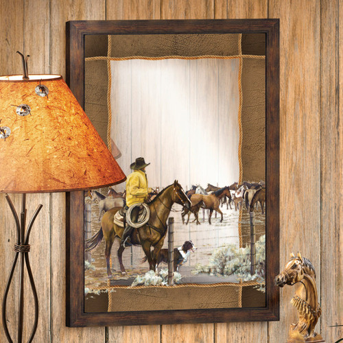 Spring Roundup Decorative Mirror