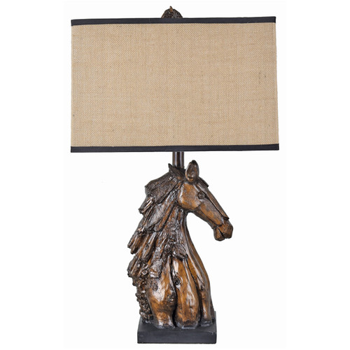 Sculpted Horse Table Lamp