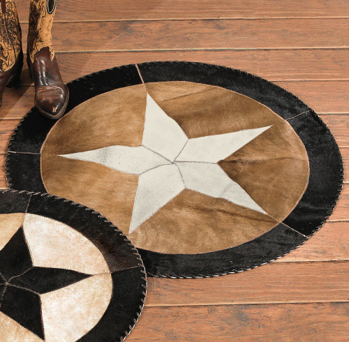 Star Cowhide Rug - 48 Inch - OVERSTOCK