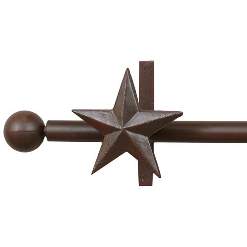 Star Curtain Rod & Rod Holders