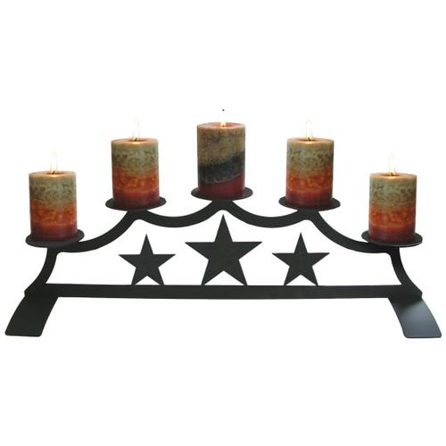 Star Fireplace Pillar Candle Holder