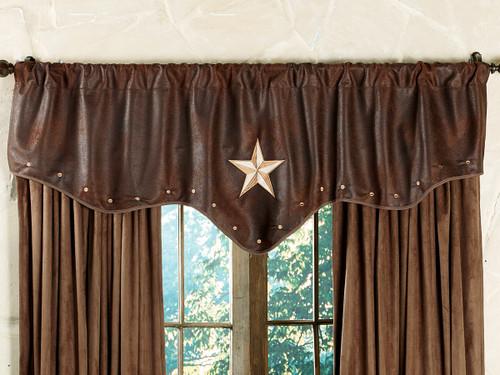 Starlight Trails Chocolate Star Valance