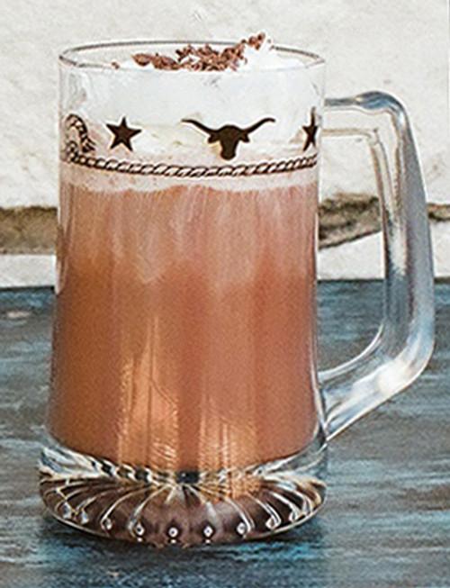 Stars & Longhorns Beer Mugs - Set of 4