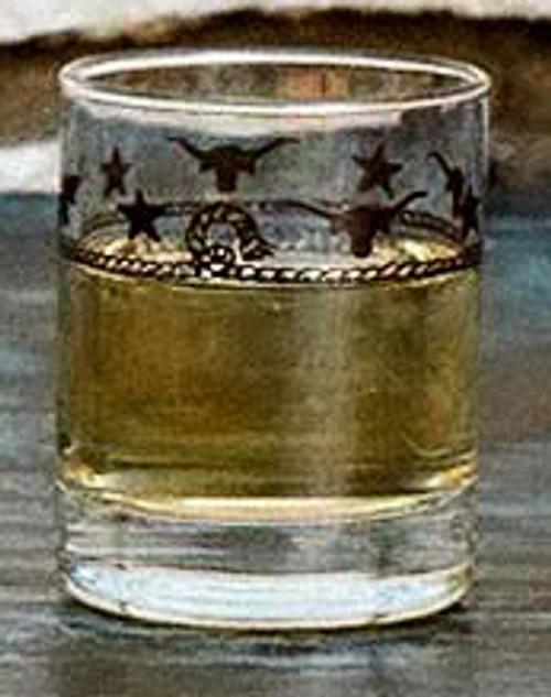 Stars & Longhorns Texas Shot Glasses - Set of 4