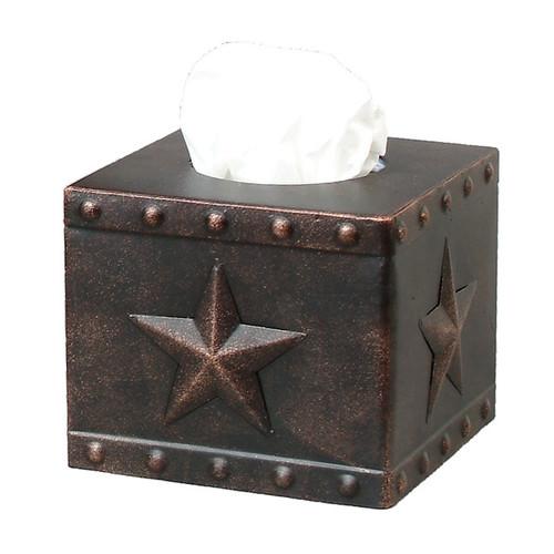Stars & Studs Metal Square Tissue Box