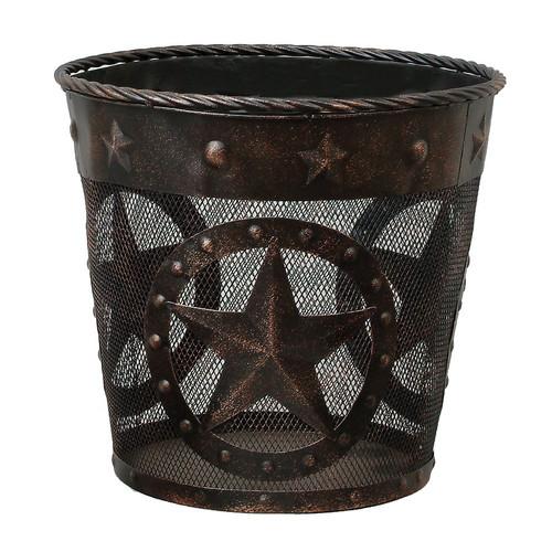 Stars & Studs Metal Waste Basket