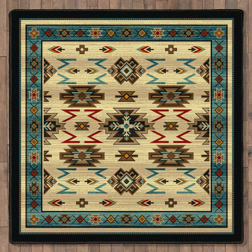 Storm Clouds Rug - 8 Ft. Square