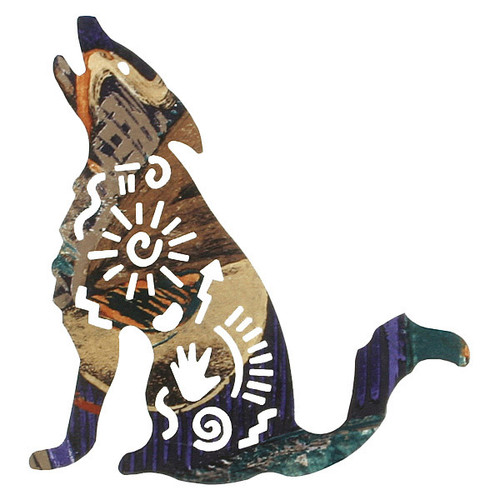 Story Coyote Metal Wall Art - 8 Inch