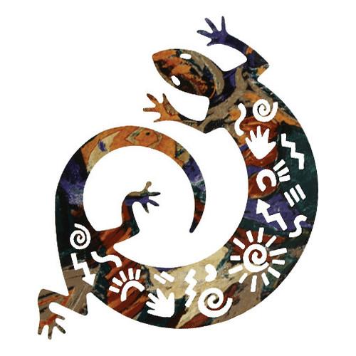 Story Lizard Metal Wall Art - 8 Inch