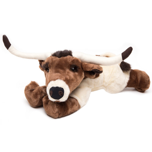 Stretching Longhorn Stuffed Animal