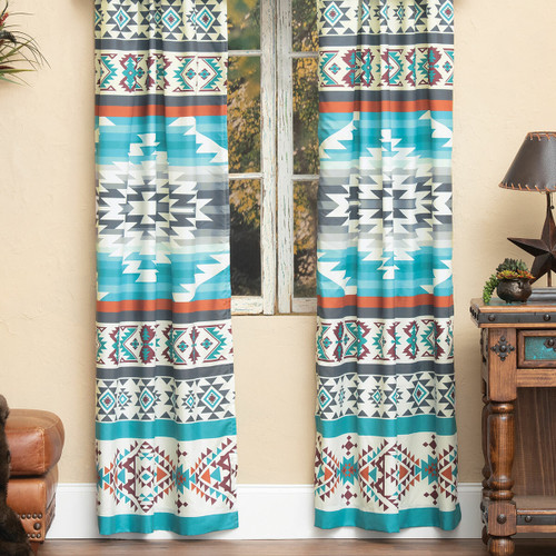 Summer Sky Turquoise Drapes