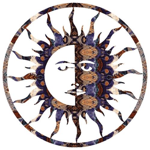 Sun Moon Metal Wall Art - 8 Inch