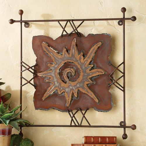 "Sun ""Rawhide"" Metal Wall Art - Small"