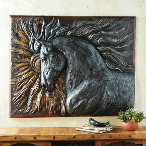 Sunburst Mustang Wall Sculpture