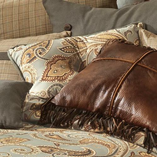 Sundance Spring Paisley Tufted Pillow