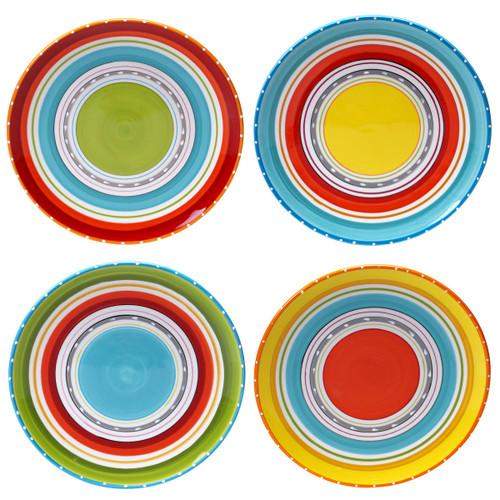 Sunrise Stripes Dinner Plates - Set of 4
