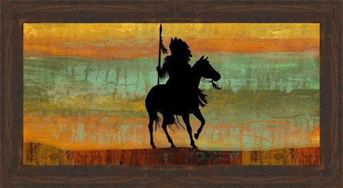Sunset Chief Framed Canvas