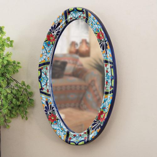 Talavera Oval Mirror