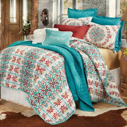 Talavera Quilt Bed Set - Twin
