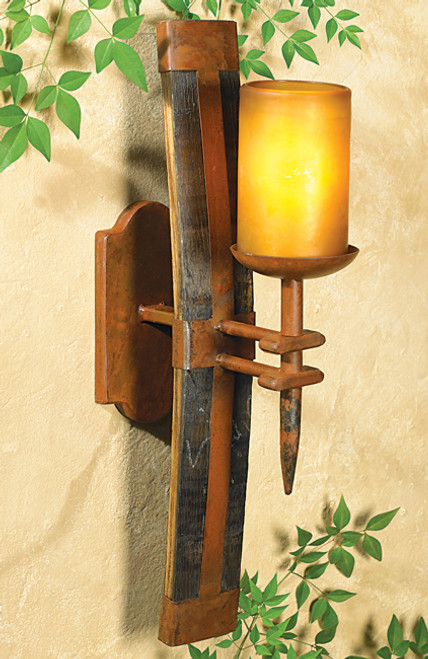Tequila Barrel Wall Sconce