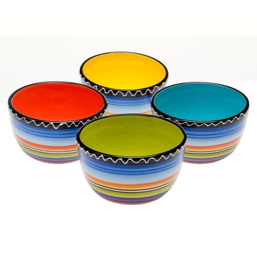 Tequila Sunrise Ice Cream Bowls - Set of 4