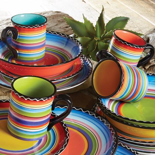 Tequila Sunrise Mugs - Set of 4