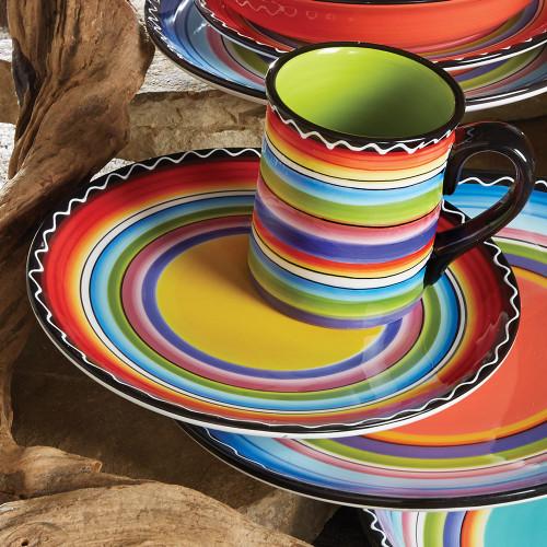 Tequila Sunrise Salad Plates - Set of 4