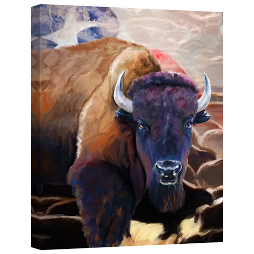 Texas Bison Canvas Wall Art