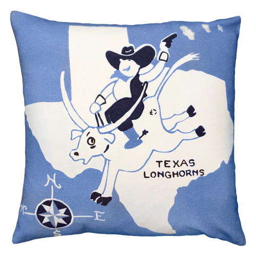Texas Longhorns Embroidered Pillow