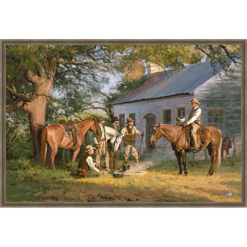 Texas Ranger Framed Canvas