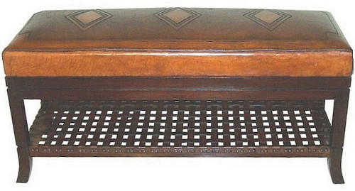 Tooled Leather Super Bench
