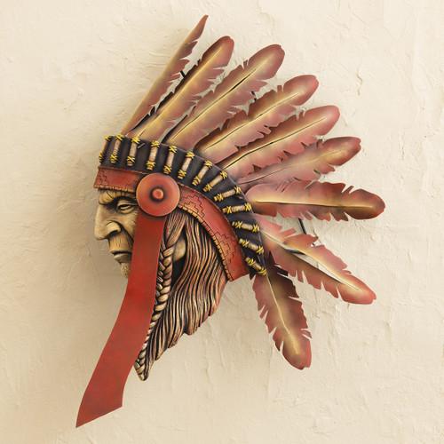 Tribal Chief 3-D Sculpture Wall Art