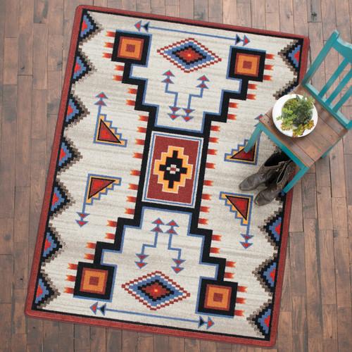 Tribal Rain Blue Rug - 8 x 11