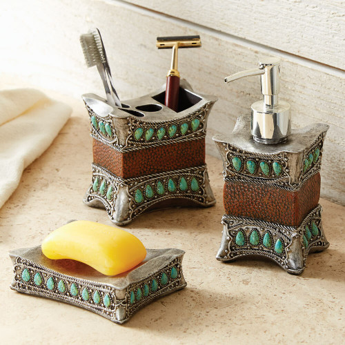 Tribal Turquoise Bath Accessories