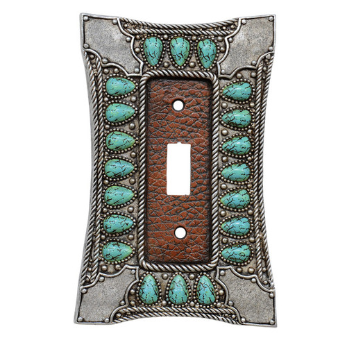 Tribal Turquoise Single Switch Cover