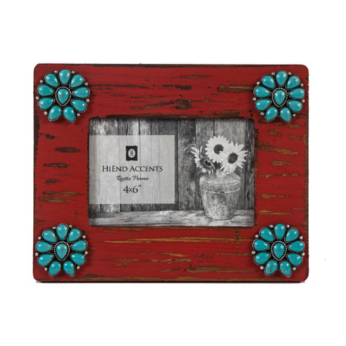 Turquoise Blossom 4 x 6 Photo Frame - BACKORDERED UNTIL 11/5/2021