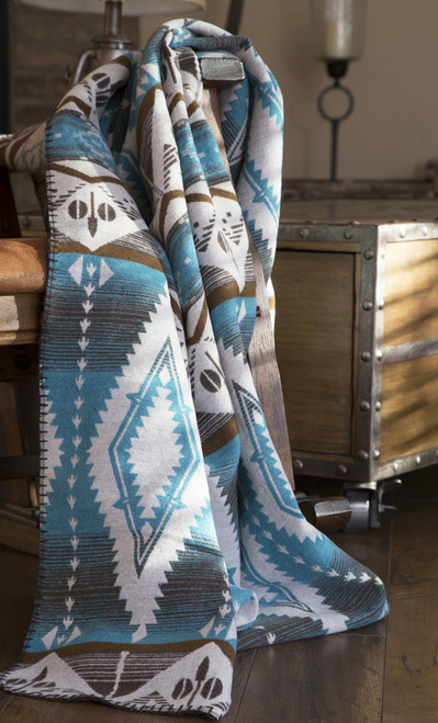 Turquoise Earth Throw - BACKORDERED UNTIL 11/19/2021