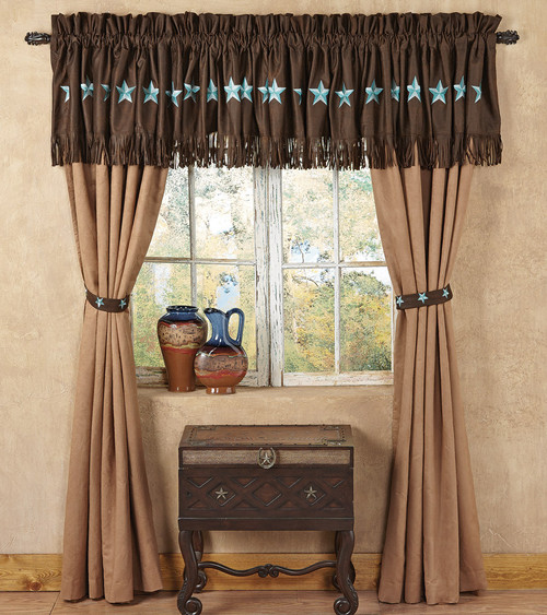Turquoise Laredo Curtain
