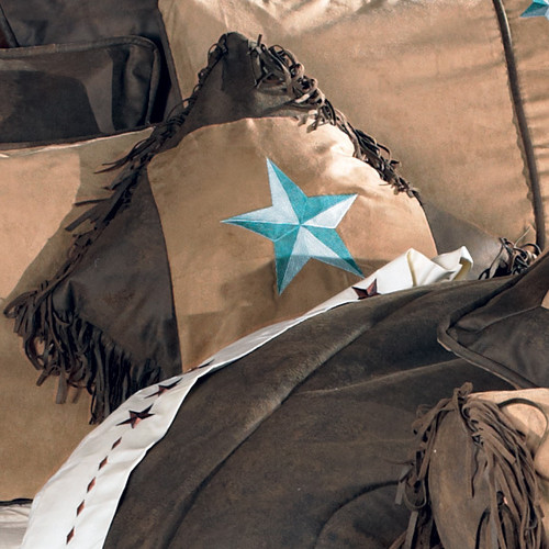 Turquoise Laredo Fringed Accent Pillow