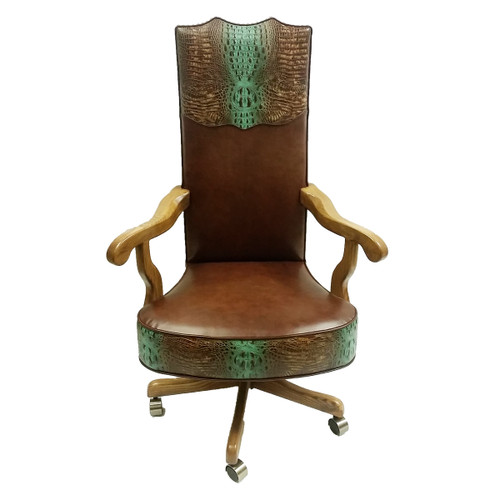 Turquoise River Leather Office Chair