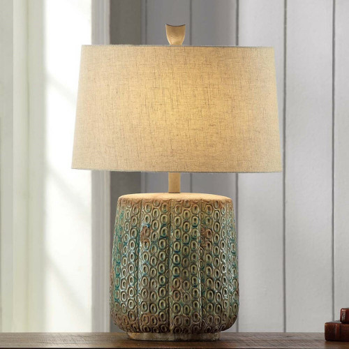 Turquoise Ruins Table Lamp