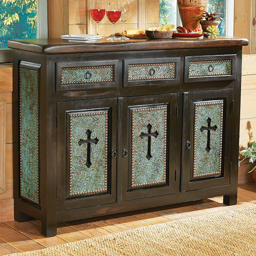 Turquoise Santa Cruz Cross Cabinet
