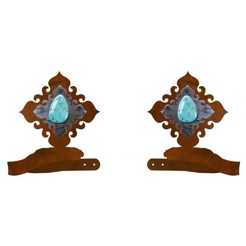 Turquoise Stone Tie Backs - Set of 2