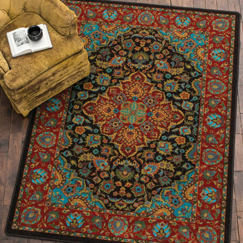Turquoise Visions Rug - 8 Ft. Round