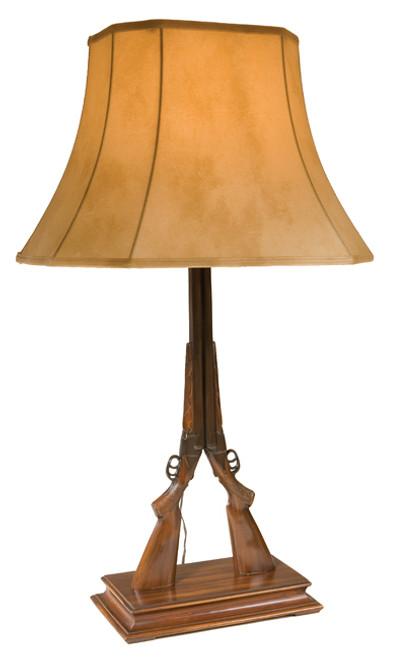 Twin Double Barrel Shotgun Lamp