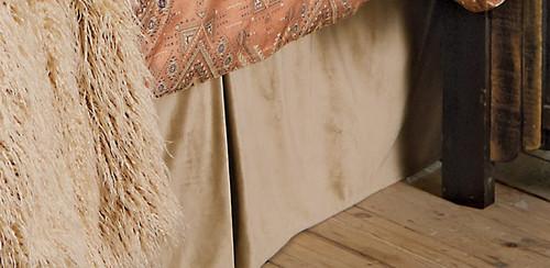 Velvet Sand Bedskirt - King