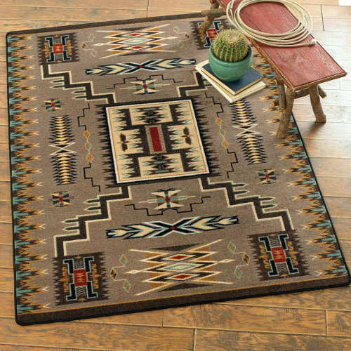 Vision Catcher Turquoise Rug - 4 x 5