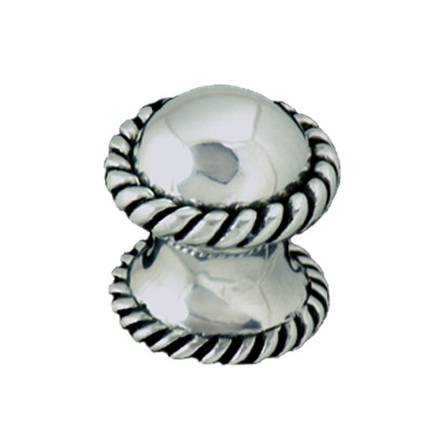 Round Rope Pewter Cabinet Knob - Small
